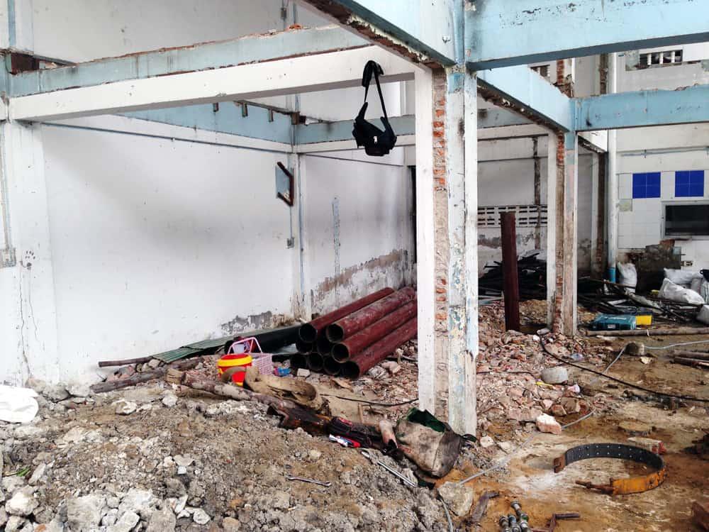 ซ่อมแซมโครงสร้างอาคารเก่า